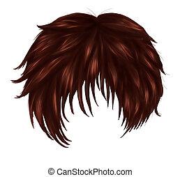 cheveux, brun, anime