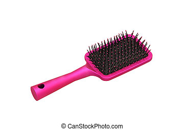 cheveux, brush.