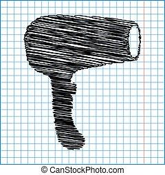 cheveux, dryer., coiffeur