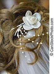 cheveux, mariée