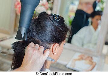 cheveux, sécher