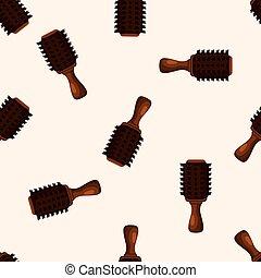 cheveux, thème, peigne, produits, éléments