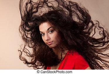 cheveux, vent