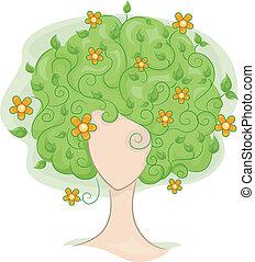cheveux, vignes