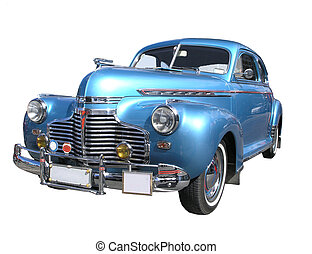 A Chevrolet Special Delux 1941 isolated on a white background