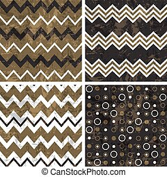 Chevron and polka dot patterns