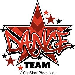 chevron dance team design with stars