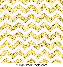 Chevron gold glitter seamless pattern