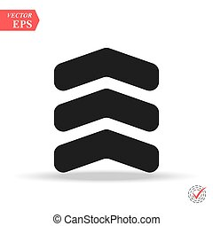 chevron icon in trendy flat style isolated on background. chevron icon page symbol for your web site design chevron icon logo, app,