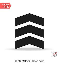 chevron icon in trendy flat style isolated on background. chevron icon page symbol for your web site design chevron icon logo, app, UI.
