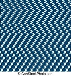 Chevron knit seamless pattern. Knitted blue background