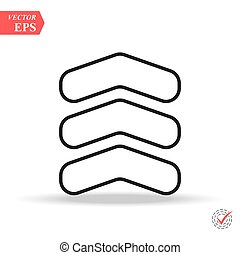 chevron line icon in trendy flat style isolated on background. chevron icon page symbol for your web site design chevron icon logo, app,