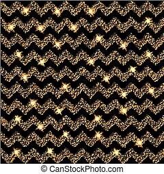 chevron, or, illustration, stars., vecteur, fond, lueur