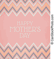 Chevron Pattern Mother's Day Card