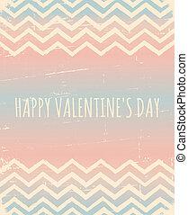 Chevron Pattern Valentine's Day Des