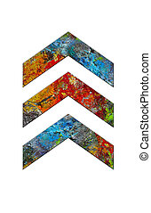 chevrons, palette, artiste