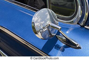 chevy, bel, luft, klassisches auto