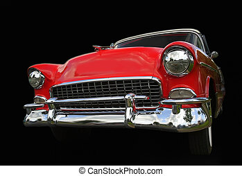 chevy, voiture, vieux, rouges