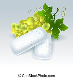 Chewing gum with grape flavor - Bubble gum with grape...