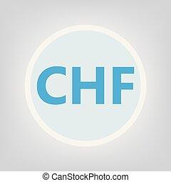 CHF (swiss franc) acronym- vector illustration