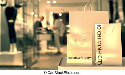 chi, animation, ville, apparenté, achats, text., sacs, 3d,...
