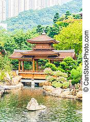 chi, lin, tempel, in, nan, lian, tuin