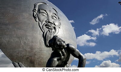 chi, monument, ho, minh.moscow