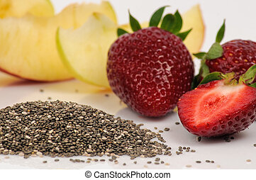 Chia and strawberry