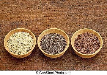 chia, flax and hemp seeds - chia, flax and hemp healthy ...