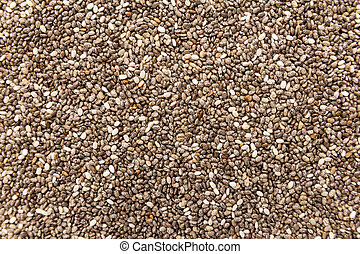 Chia Seed. Closeup of grains, background use.