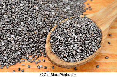 chia seed on table