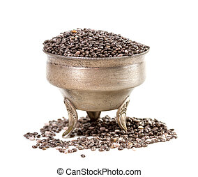 chia seeds isolated isolate on white background