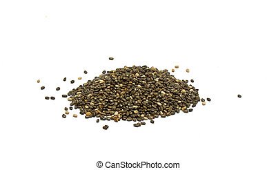 chia seeds isolated on white background