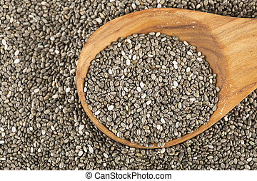 Chia Seeds with Spoon