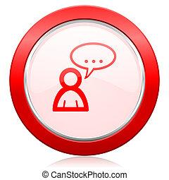 chiacchierata, segno, simbolo, bolla, foro, icona