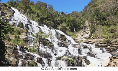 Chiang Mai, Thailand. Mae Ya Waterfall. 4k Ultra HD video