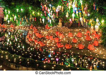 CHIANG MAI THAILAND-NOVEMBER 17 : Loy Krathong festival in ...