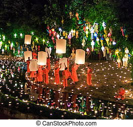 CHIANG MAI THAILAND-NOVEMBER 17 : Loy Krathong festival in...