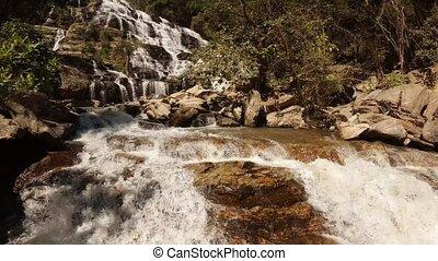 chiang, thailand., mai, mae, ya, chute eau