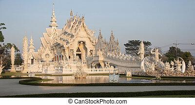 chiangrai, khun, rong, tailandia, bianco, wat, tempio