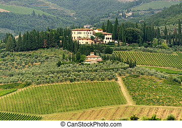 Chianti (Tuscany), old farmhouse - Hills of the Chianti ...