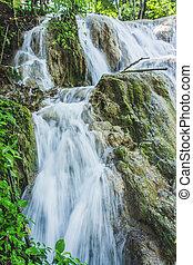 chiapas, méxico, de, cascadas, agua, azul, cachoeiras