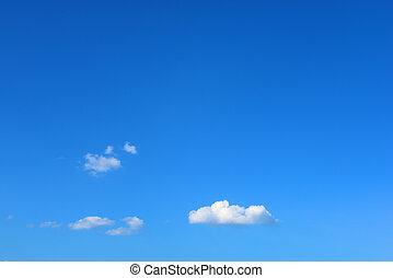 chiaro, cielo blu