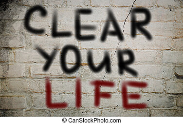 chiaro, concetto, vita, tuo