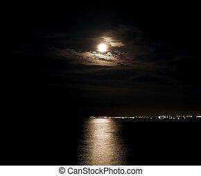chiaro di luna, sea.