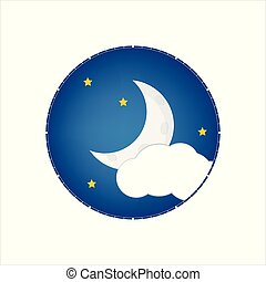 chiaro di luna, vettore, notte