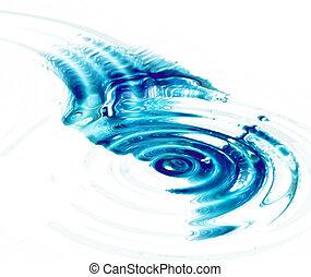chiaro, increspature, acqua, cristallo, fondo, bianco