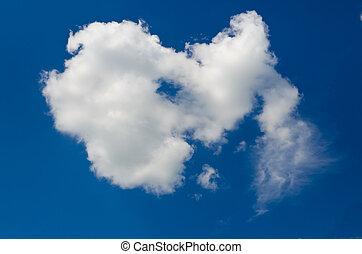 chiaro, solitario, nube cielo