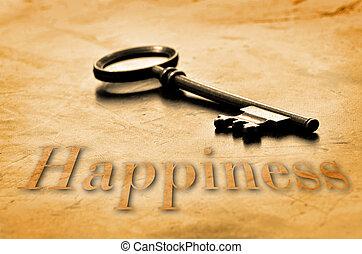 chiave, a, felicità