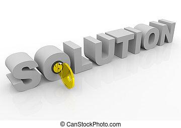 chiave, a, soluzione